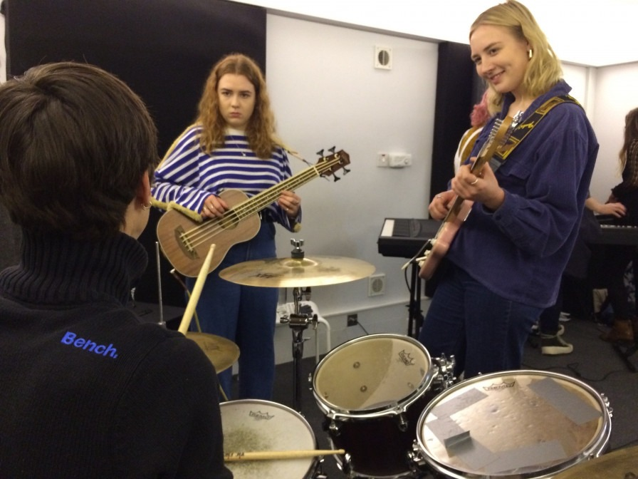 Issy, Kristiane and Meike - 'Band in a Day' session