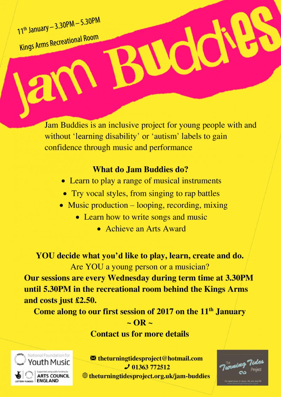 Jam Buddies Resumes after the Christmas Holidays | Youth Music Network