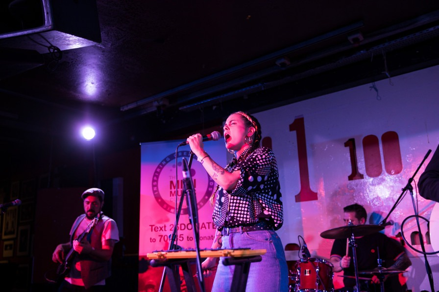 Barbarella's Bang Bang performing at the 100 Club, London's iconic music venue - February 2020