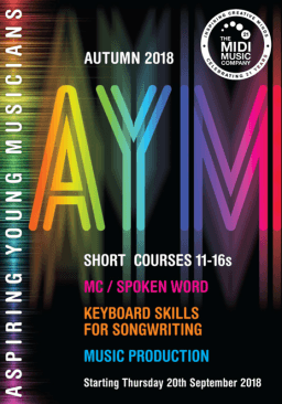 Short Courses for 11-16 year old Aspiring Young Musicians - Autumn 2018