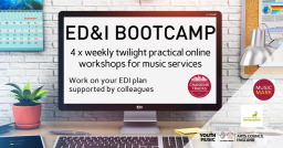 [TRAINING] EQUALITY, DIVERSITY & INCLUSION TWILIGHT BOOTCAMP SERIES FOR MUSIC SERVICES – STARTS 12 MAY