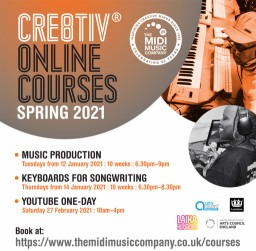 Cre8tiv® Online Courses for Over 16s & Adults this Spring