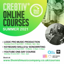 Cre8tiv® Online Music Courses for Over 16s