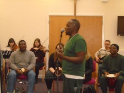 Finding Rhythms partner with Trinity Laban Conservatoire of Music and Dance to make music with prisoners at HMP Thameside