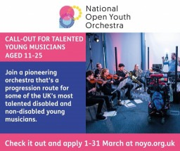 Call-out for talented young musicians. Applications open until 31 March!