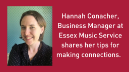 Working with local authority teams #3: Making connections, from Essex Music Service