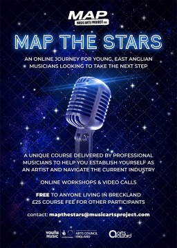 MAP THE STARS Online Musician Development Course Starting The Month