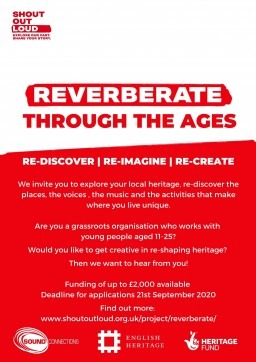 Reverberate - funding available for grassroots youth organisations