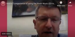 NMPAT's experience of using the Youth Music EDI tools