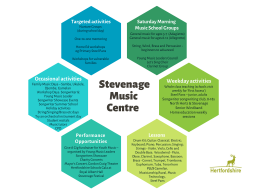 Creating a music centre for the whole community in Stevenage