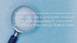 Develop an inclusive music tutor job description
