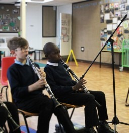 Access to inclusive music making initiative by Creative United in partnership with The OHMI Trust and the Nottingham Music Hub enables disabled children to participate fully in Whole Class Ensemble Tuition at  primary school