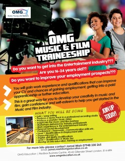 13 week Music and Film Traineeship