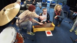 Carousel artists lead an introduction to figurenotes workshop for SEN music students