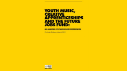 Creative Apprenticeships & Future Jobs Fund: An analysis of stakeholder experiences
